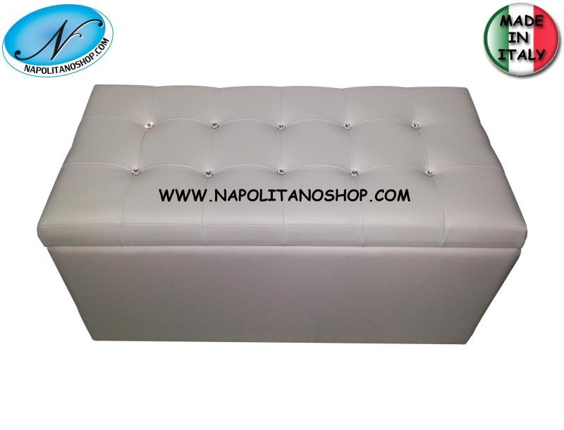 Panca Contenitore Ecopelle : Giby p pouf panca contenitore in ecopelle rosso ebay